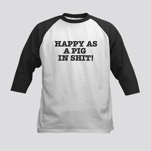 HAPPY AS A PIG IN SHIT! Baseball Jersey