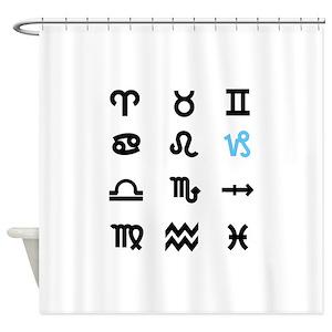 Virgo Sign Shower Curtains