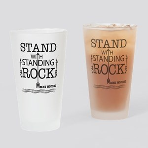STAND WITH STANDING ROCK Drinking Glass