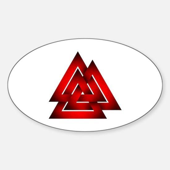 Cute Valknut Sticker (Oval)