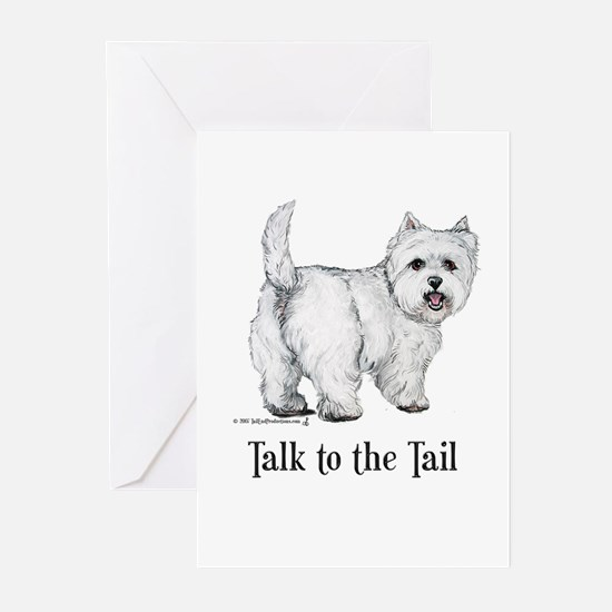 Westie Talk to the Tail Greeting Cards (Pk of 20)