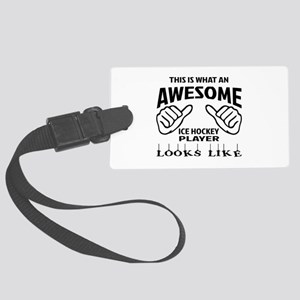 This is what an awesome Ice Hock Large Luggage Tag