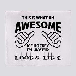 This is what an awesome Ice Hockey p Throw Blanket
