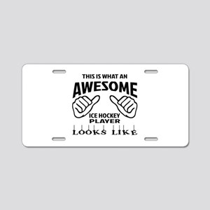 This is what an awesome Ice Aluminum License Plate