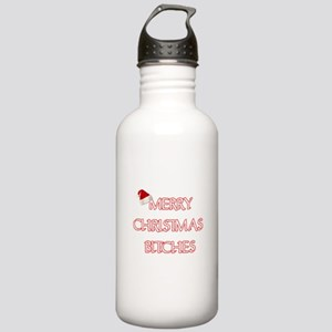MERRY CHRISTMAS BITCHES Water Bottle
