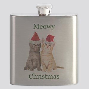 Meowy Christmas Kitten Flask