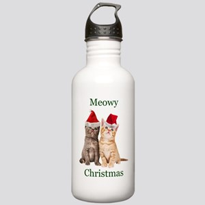 Meowy Christmas Kitten Water Bottle