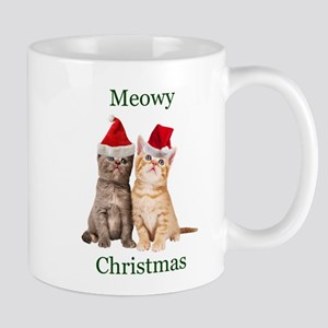 Meowy Christmas Kitten Mugs