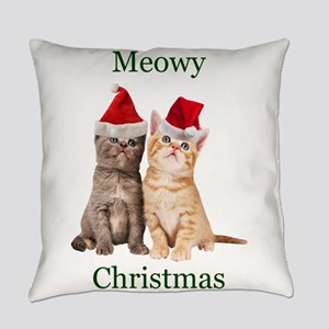 Meowy Christmas Kitten Everyday Pillow