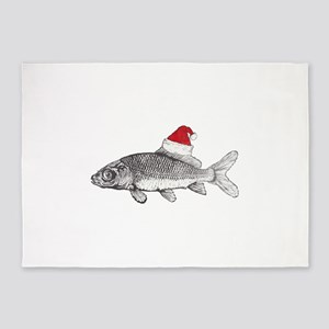 Merry Fishmas 5'x7'Area Rug