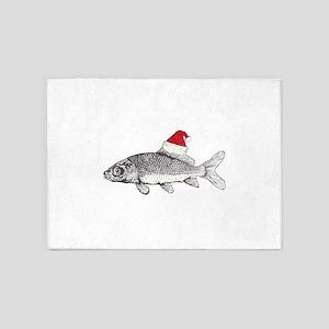 Merry Fishmas 5'x7'Area Rug