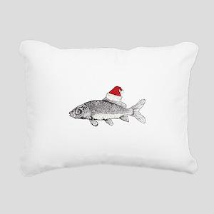 Merry Fishmas Rectangular Canvas Pillow