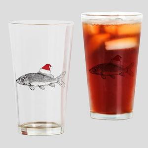 Merry Fishmas Drinking Glass