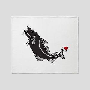 Merry Fishmas Throw Blanket
