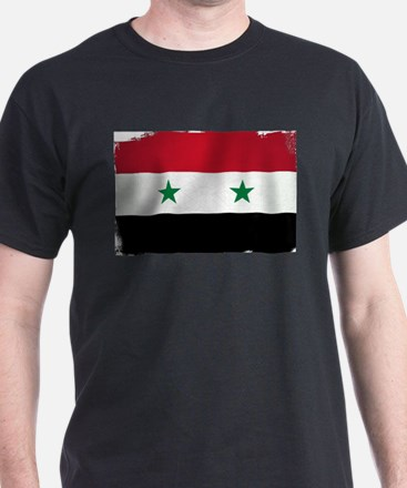 Flag of Syria Grunge T-Shirt