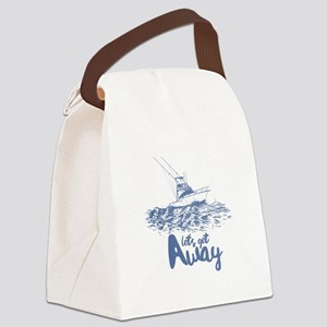 Let's Get Away Canvas Lunch Bag