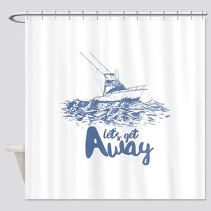 Let's Get Away Shower Curtain