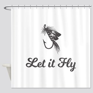 Let It Fly Shower Curtain