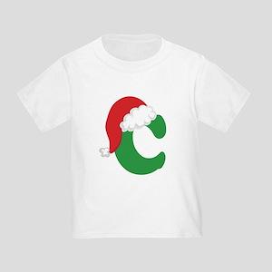 Christmas Letter C Alphabe T-Shirt