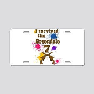 I survived the Greendale 7 Aluminum License Plate
