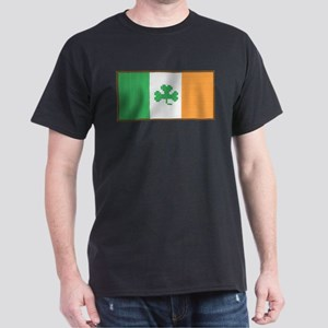 Cross Stitch Irish Flag with Shamrock T-Shirt