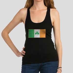 Cross Stitch Irish Flag with Shamrock Tank Top
