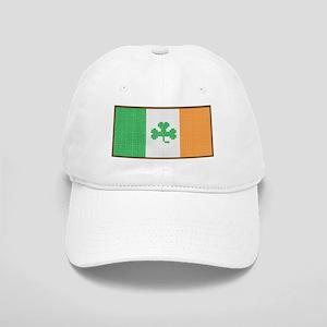 Cross Stitch Irish Flag with Shamrock Cap