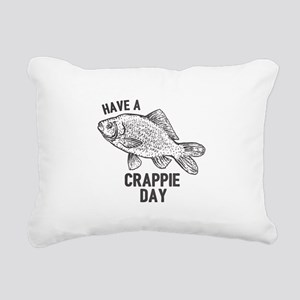 Crappie Day Rectangular Canvas Pillow