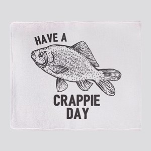 Crappie Day Throw Blanket
