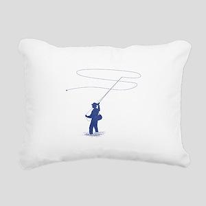 Flycasting Rectangular Canvas Pillow