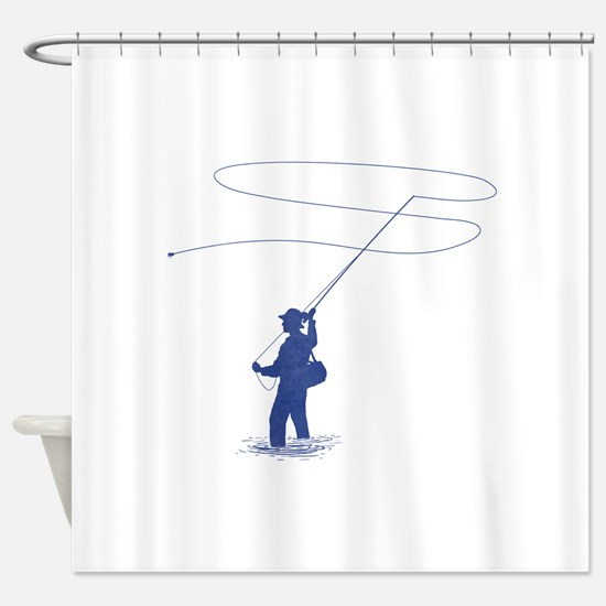 Flycasting Shower Curtain