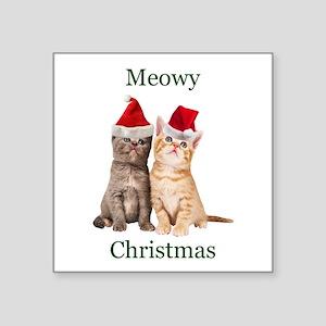 Meowy Christmas Kitten Sticker