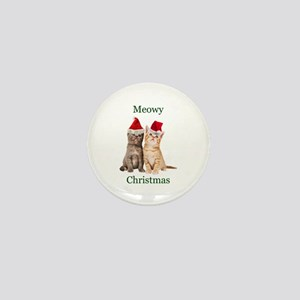 Meowy Christmas Kitten Mini Button