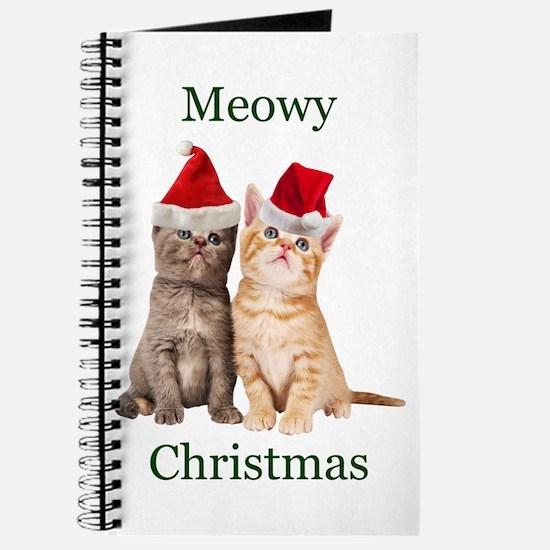 Meowy Christmas Kitten Journal