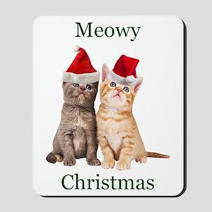 Meowy Christmas Kitten Mousepad