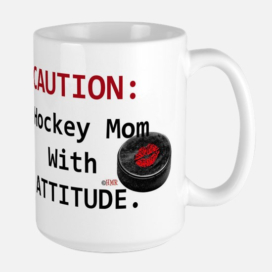 Hockey Mom With Attitude Mug Mugs