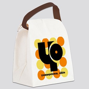 YO! Yellow/Orange Canvas Lunch Bag