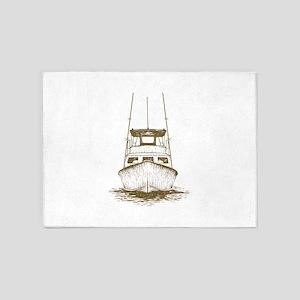 Fishing Boat 5'x7'Area Rug