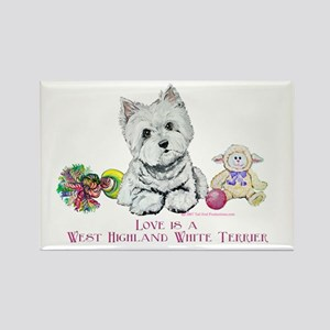 Westhighland Terrier Love Rectangle Magnet