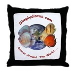 Simplydiscus_shirt_v1_cafepress Throw Pillow