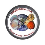 Simplydiscus_shirt_v1_cafepress Wall Clock