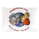 Simplydiscus_shirt_v1_cafepress Pillow Case