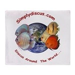 Simplydiscus_shirt_v1_cafepress Throw Blanket