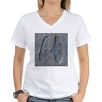 Real Deer Track Women's V-Neck T-Shirt