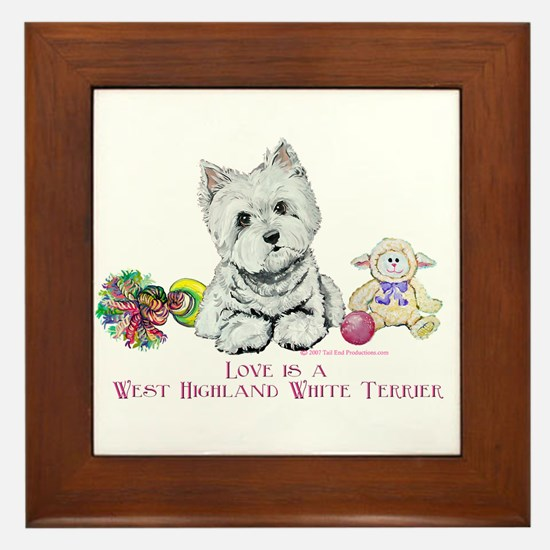 Westhighland Terrier Love Framed Tile