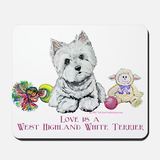 Westhighland Terrier Love Mousepad