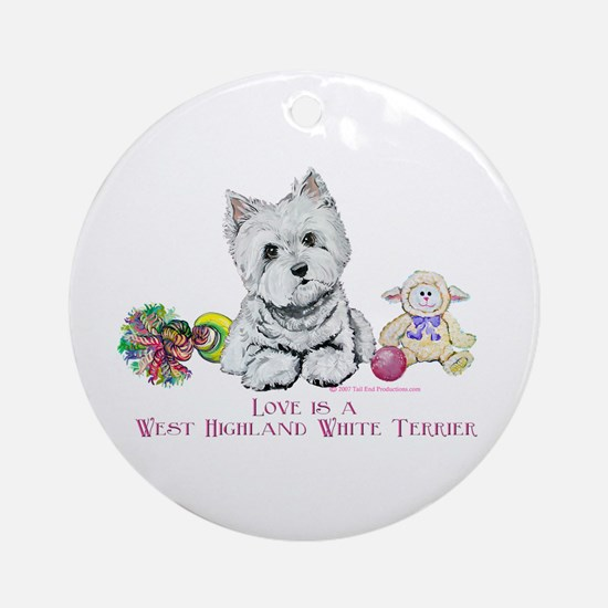 Westhighland Terrier Love Ornament (Round)