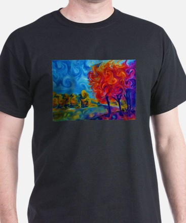 Abstract Landscape Art Painting T-Shirt