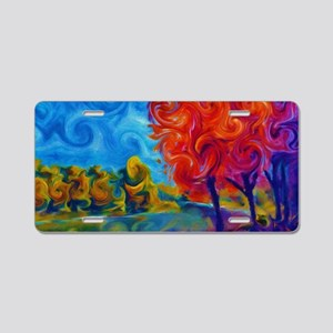 Abstract Landscape Art Pain Aluminum License Plate