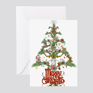 GOAT LOVERS CHRISTMAS TREE Greeting Cards